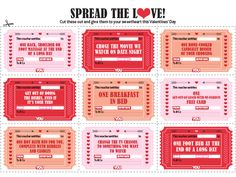 Print these vouchers to give to that special someone on Valentines' Day!