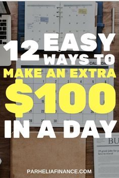 Wondering how to make 100 dollars every day Here are some easy ways to make 100 in a day Click through to see these side hustles and make extra money Make Money From Home, Way To Make Money, Make Money Online, How To Make, Money Fast, Make 100 A Day, Genius Ideas, Money Making Crafts, Travel Jobs