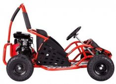The MotoTec Off Road Go Kart is the ultimate kid ride! Featuring a powerful 4 stroke engine, roll cage safety bars, positraction, metal throttle/brake pedals, adjustable seat and seat belt. This go kart is rugged and built to last. For riders 13 and up. Gas Go Kart, Go Kart Off Road, Offroad, Go Karts For Sale, Races Style, Electric, Steel Rims, All Terrain Tyres, Chain Drive
