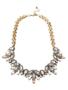 olive + piper Nadia Crystal Statement Collar