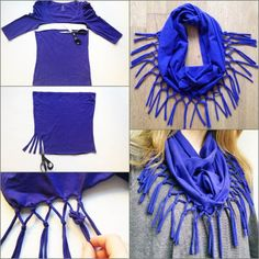 How to DIY Refashion a T-shirt into a Scarf | iCreativeIdeas.com Follow Us on Facebook --> https://www.facebook.com/icreativeideas