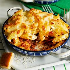 This freeze-ahead macaroni pasta bake is Greek in origin, but we've given it an Italian twist Veal Recipes, Baked Pasta Recipes, Cooking Recipes, Healthy Recipes, Pasta Recipies, Noodle Recipes, Cooking Ideas, Vegetarian Recipes, Food Ideas