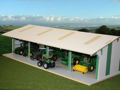 Wooden+Outbuildings | Euro Style Tractor and Machinery Shed - Scale 1.32 - 5M Retail
