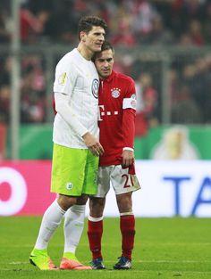 Mario Gomez and Philipp Lahm