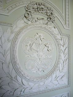 """Carved wall paneling """"boiseries"""". Le Petit Trionon"""