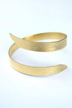 Greek GODDESS Swirling Arm Bracelet Greek Jewelry Metalwork Bracelet. $80.00, via Etsy.