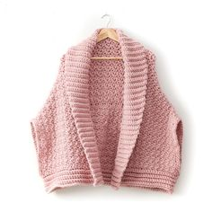 Bernat Origami Crochet Cardigan, XS/S/M