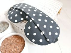 Organic Weighted Eyepatch, Big Dots, Washable Cover,Aromatherapy Lavender Flaxseed, Adjustable Sleep Mask Made by SleepingOwl Lavender Blossoms, Lavender Bags, Heat Bag, Rem Sleep, How To Sleep Faster, Set Cover, Puffy Eyes, Sleep Mask