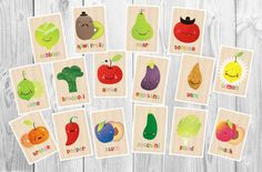 Hey, I found this really awesome Etsy listing at http://www.etsy.com/listing/129631191/16-funny-fruit-vegetable-cards-in