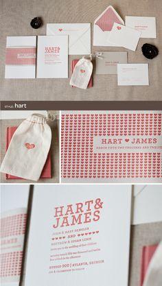 letterpress wedding invitations by Alee & Press: hart