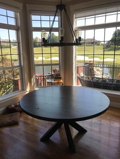 Find the perfect table solution for your dining room, apartment, open concept space, alcove, or kitchen nook in your home! Choose the right size, color and style for your home and James+James will offer delivery or shipping options to your location. Beautiful Round Dining Tables Built by Hand in Northwest Arkansas! Round Tables with solid wood bases or Round Tables with Steel Bases - hand crafted in the USA. Click to customize! #RoundTable #DiningRoom #HandCrafted #decor #NorthwestArkansas…