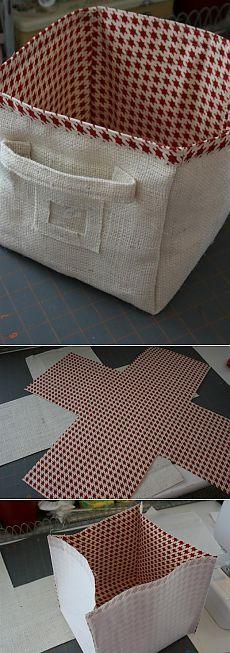 (+1) тема - Корзина из ткани   СВОИМИ РУКАМИ