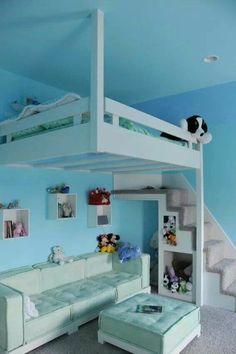 125 großartige Ideen zur Kinderzimmergestaltung - kinderzimmergestaltung für kleinen raum sofa bett