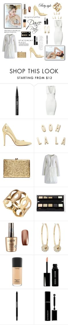 """""""Dance Party"""" by krystalkm-7 ❤ liked on Polyvore featuring Kat Von D, Oh My Love, Dune, Kate Spade, Chicwish, Lydell NYC, MAC Cosmetics, Bobbi Brown Cosmetics, Edward Bess and Givenchy"""
