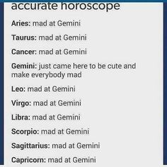 I think everyone's mad cuz Gemini tells it like it is or cuz Gemini has idaf attitude and people dont know where they stand w Gems Gemini Traits, Gemini Life, Gemini Quotes, Gemini And Scorpio, Zodiac Sign Traits, Zodiac Signs Astrology, Zodiac Star Signs, Gemini Zodiac, My Zodiac Sign