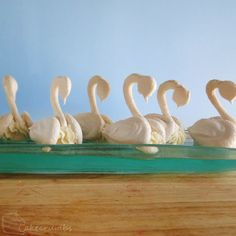 On the seventh day of Christmas my true love baked for me; 7 swans a-swimming. Meringue swans are one of my favourite desserts to make. I've served them many different ways and on many differe…