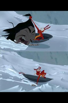 One of my favourite Mulan moments is this - Bambi