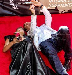 On the red carpet Tabitha Lipkin a fun #selfie #SundaySelfie #LJFFF #SanDiego #FoxNews #journalist #beauty #gown #style #redcarpet #fashion #style #4ChionStyle at La Jolla Fashion Film Festival