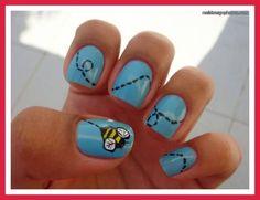 Bumble Bee Nails(: