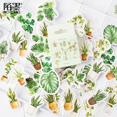 Decorate your planner or bullet journal with these house plant stickers. Get creative and use these stickers to personalize gift wrappings, scrapbooks, calendars, photo albums, post cards or any creative projects. Planner Stickers, Journal Stickers, Scrapbook Stickers, Diy Scrapbook, Scrapbook Journal, Cactus Stickers, Kawaii Stickers, Cute Stickers, Vaporwave