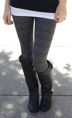 Leggings! Not too fond of print leggigs yet, but I do like this!