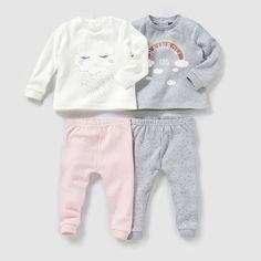 Pyjama 2 pièces interlock (lot de 2) 0-3 ans R baby