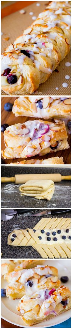 Homemade Blueberries 'n Cream Danish! Buttery, flaky, creamy, and SO simple with…