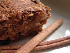 Pumpkin protein fiber bars Recipe via @SparkPeople