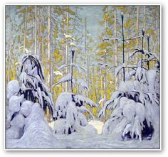 "Lawren Harris | ""Winter Woods"" | Lawren Harris was a member of the ""Group of Seven"" artists from Canada"