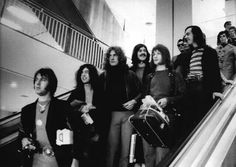 Led Zeppelin. Just imagine seeing all four of em coming down an escalator, I'm not gonna lie I would probably faint