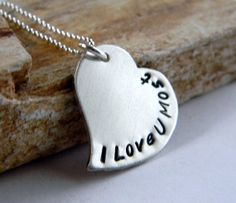 Personalized Heart Necklace I Love You Most by RosesDesigns, $35.00