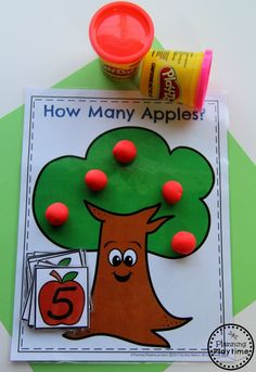 Number Worksheets - Planning Playtime : Fun Counting Activities for Kindergarten and Preschool This Kindergarten Math Unit 1 Set includes 25 Number Worksheets and 15 Math Centers. Simplify your lesson planning with these fun, hands on activities. Counting Activities, Kindergarten Activities, Preschool Activities, Interactive Activities, Preschool Education, Preschool Lessons, Tree Study, Apple Theme, Math Numbers