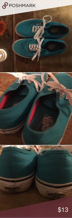 TEAL VANS ❤️ Good condition Comfy and adorable on Vans Shoes Sneakers