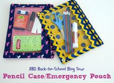 Riley Blake Designs Blog: RBD Back-to-School Blog Tour: Pencil Case/Emergency Pouch #iloverileyblake #schoolcolors #schoolpride #backtoschool #pencilcase #pencilpouch #ucreate #tutorial