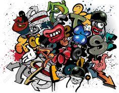 Graffiti Dibujos Animados Imágenes De Archivo, Vectores, Graffiti ...