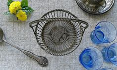 Silver basket vintage silver plated little by MilrasCollectibles