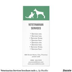 Shop Veterinarian Services brochure rack card created by Naokko. Create Your Own Card, Pet Clinic, Rack Card, Street Names, Landscape Prints, Promote Your Business, Wedding Programs, Sober, Pet Shop