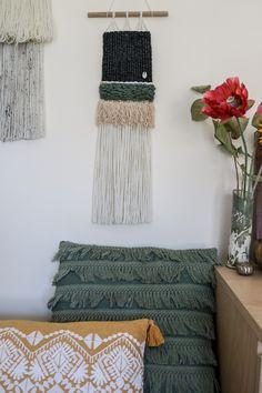 Beautiful, Bohemian Hand Woven Wall Hangings by wovenrebel Woven Wall Hanging, Wall Hangings, Hand Weaving, Etsy Seller, Bohemian, Interiors, Throw Pillows, Creative, Beautiful