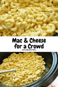 Easy Pasta Recipes, Potluck Recipes, Easy Dinner Recipes, Sweet Recipes, Yummy Recipes, Macaroni And Cheese, Crockpot Mac N Cheese Recipe, Crockpot Recipes, Noodles