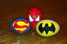 Super Heros Easter Eggs (plastic easter egg crafts)