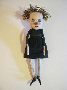 an art doll sandy mastroni puppet girl weird dollbizarre