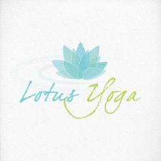 Lotus Flower Yoga Logo Floral Design Business Branding by LogoLove, $7.00