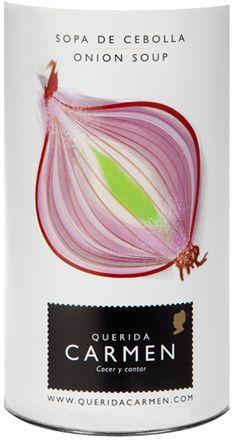 Querida Carmen SOPA DE CEBOLLA, love the clean illustration style...