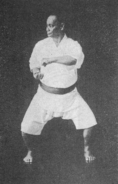Motobu Chōki in Naihanchi-dachi, one of the basic karate stances Demonstrating one of my favourite kata, Naifunchin/Naihanchi/Naifanchi Isshinryu Karate, Shotokan Karate, Kempo Karate, Okinawan Karate, Street Fights, Martial Artists, Kendo, Aikido, Bruce Lee