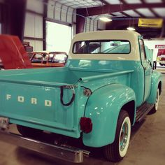 1955 #Ford F-100 rocking the turquoise! #Classic #Style #Truck #Design