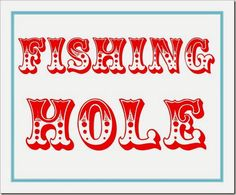 carnival party printables - Fishing Game