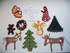 10 Christmas ornaments tatting. by ShopGift on Etsy