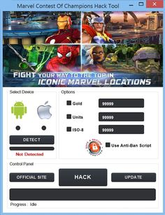 DOWNLOAD Link: http://crazyhotgameparad1se.blogspot.com/2016/01/marvel-contest-of-champions-cheat-tool.html Marvel Contest of Champions Cheat Tool is for those who need all the resources in the game unlocked. You can get Unlimited Gold, Units, ISO-8, Energy, Versus and Unlock all SuperHeroes in the game with one click. Extra Tags: marvel contest of champions cheats, marvel contest of champions cheat codes, marvel contest of champions cheats android, marvel contest of champions cheats no…