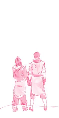 Mako and Korra by http://razingreason.tumblr.com/post/56238246363/book-2-makorra-sketch-to-start-the-day-3