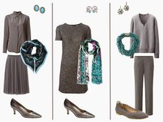 A Grey Wardrobe with Turquoise